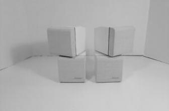 BOSE Double Cube Swivel Satellite Surround Speakers White Acoustimass Lifestyle Bose