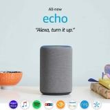 Certified Refurbished Echo (3rd Gen) – Smart speaker with Alexa – Heather Gray